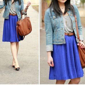 🌸Banana Republic Royal Blue Pleated Skirt